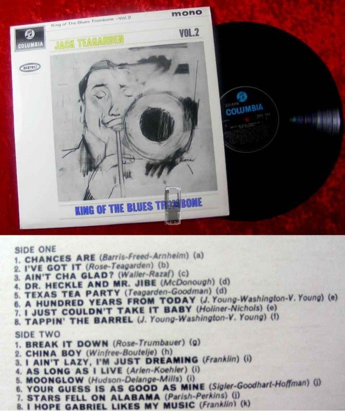 LP Jack Teagarden: King of Blues Trombone Vol. 2