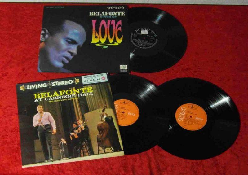 3 Langspielplatten HARRY BELAFONTE - incl. arnegie Hall Concert 1959