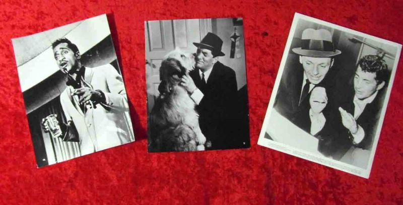 3 Pressefotos Frank Sinatra Dean Martin Sammy Davis jr. 1960´s