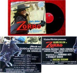 LP Zorro Soundtrack Alain Delon Guido and Maurizio de A