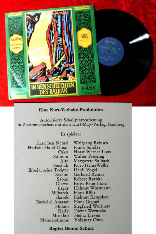 LP Karl May: In den Schluchten des Balkan (Fass 6415 027) D