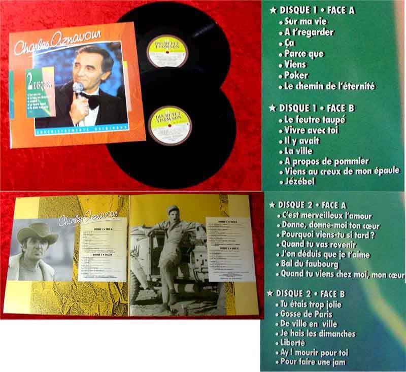 2LP Charles Aznavour: Enregistrements Originaux