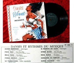 25cm LP Danses et Rythmes Du Mexique (Columbia 1801) F