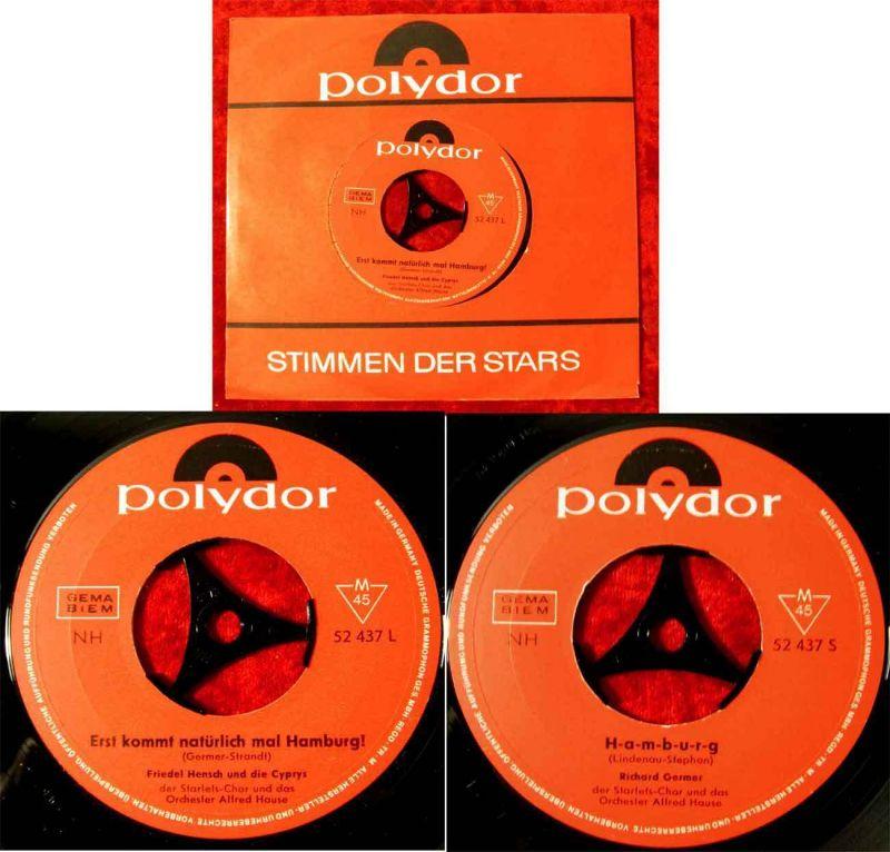 Single Friedel Hensch & Cyprys: Erst kommt natürlich mal Hamburg (Polydor 52437) 0