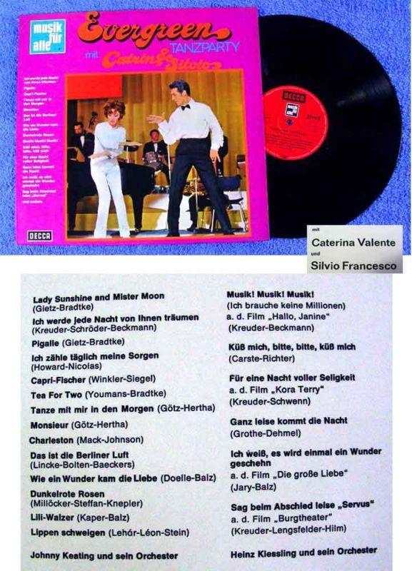 LP Caterina Valente & Silvio Francesco: Evergreen Tanzparty (Decca Musik f.Alle)