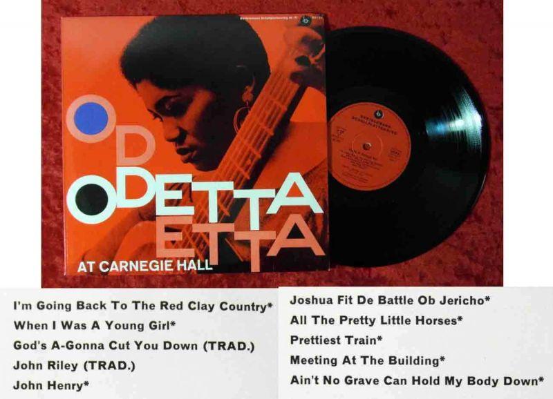 25cm LP Odetta At Carnegie Hall (Bertelsmann 63 121) D