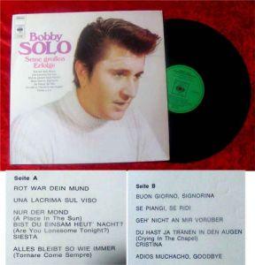 LP Bobby Solo Seine großen Erfolge