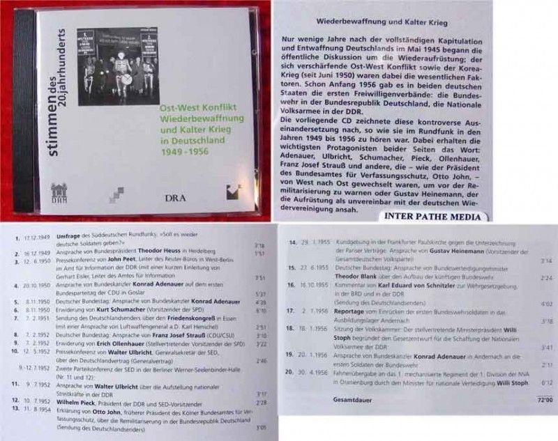 CD Stimmen des Jahrhunderts Ost West Konflikt Wiederbew