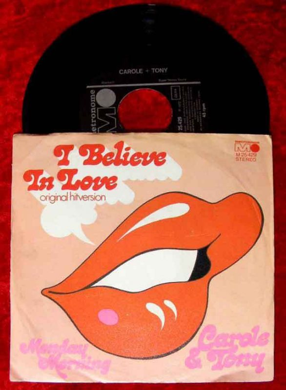 Single Carole & Tony: I Believe in Love (Metronome M 25 429) D (Tony Sheridan)