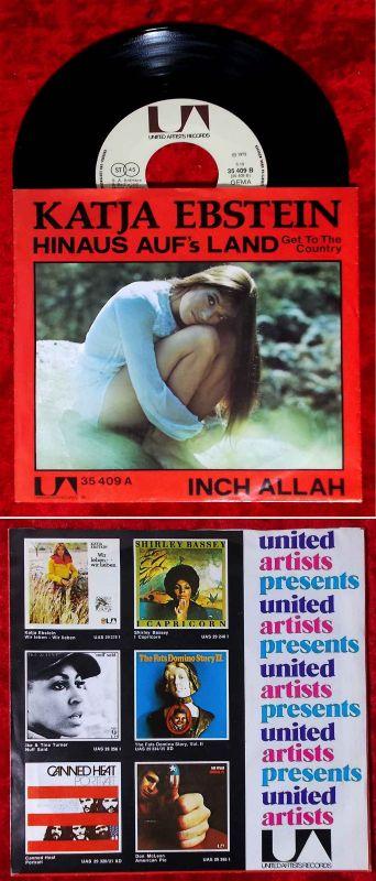Single Katja Ebstein: Hinaus auf´s Land (United Artists 35 409 A) D 1972