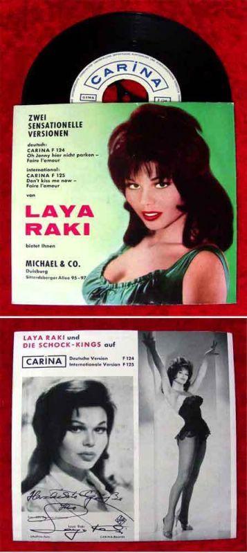 Single Laya Raki: Oh Johnny hier nicht parken / Faire l´amour (Carina F 124) D