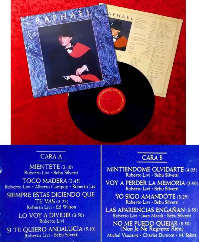LP Raphael: Las Apariencias Enganan (Columbia TVKLS-460982) Mexico 1988