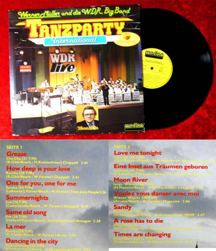 LP Werner Müller & WDR Big Band: Tanzparty International (Marifon 47 882 ET) D79