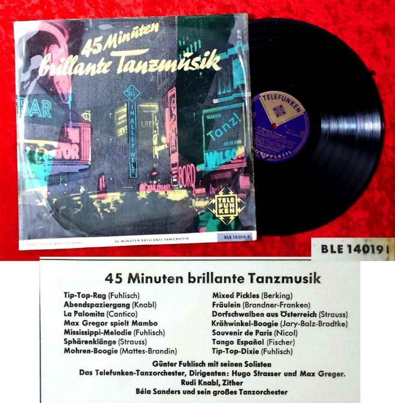 LP 45 Minuten brillante Tanzmusik (Telefunken BLE 14 019 P) D
