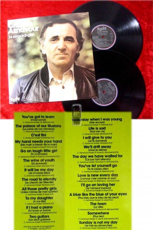 2LP Charles Aznavour: 24 Songs in English