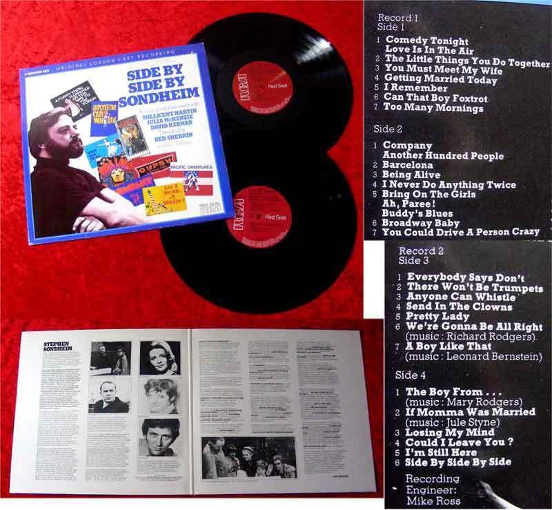 2LP Side by Side by Sondheim Millicent Martin 1976