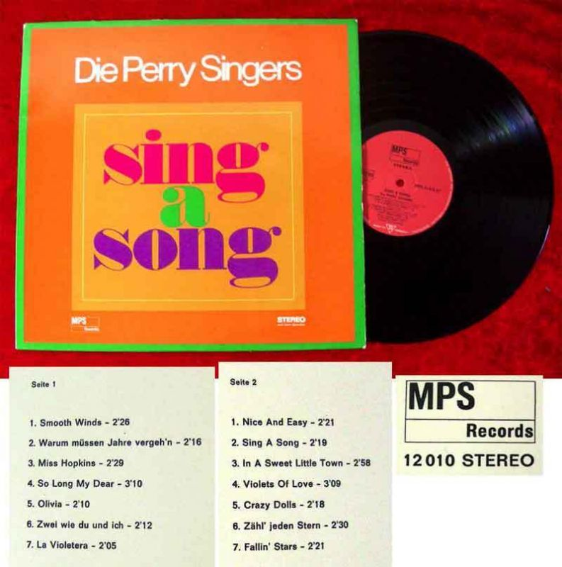 LP Perry Singers: Sing A Song (MPS Stereo 12 010) D 1966