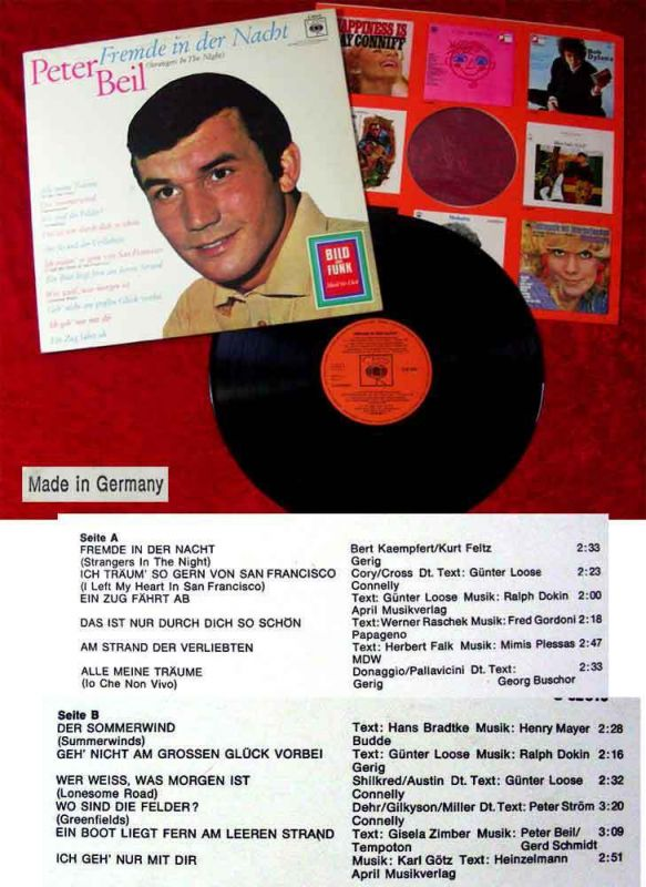 LP Peter Beil: Fremde in der Nacht  (CBS S 62 810) D 1966