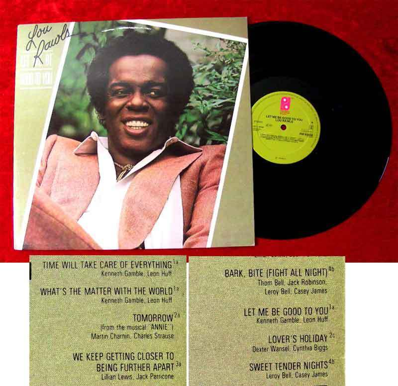 LP Lou Rawls: Let me be good to you (Philadelphia 83 658) NL 1979 Musterplatte