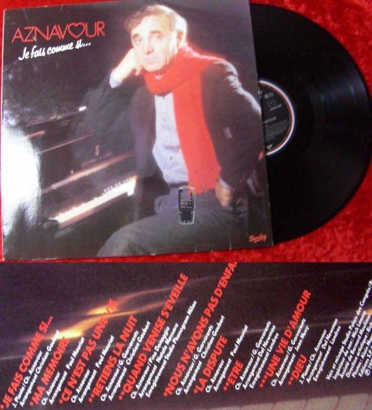 LP Charles Aznavour: Je fais comme si...