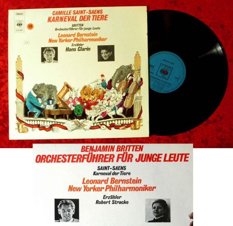 LP Hans Clarin: Karneval der Tiere (w/ Leonard Bernstein) CBS S 72 567) D