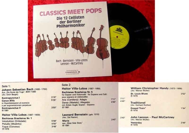 LP 12 Cellisten der Berliner Philharmoniker Classics me