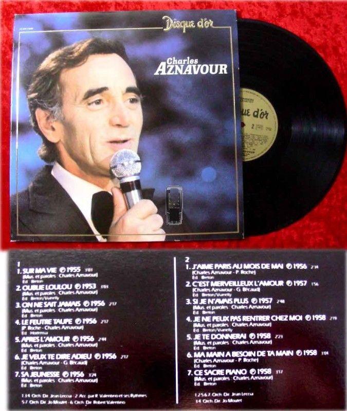 LP Charles Aznavour: Disque d'Or de Charles Aznavour