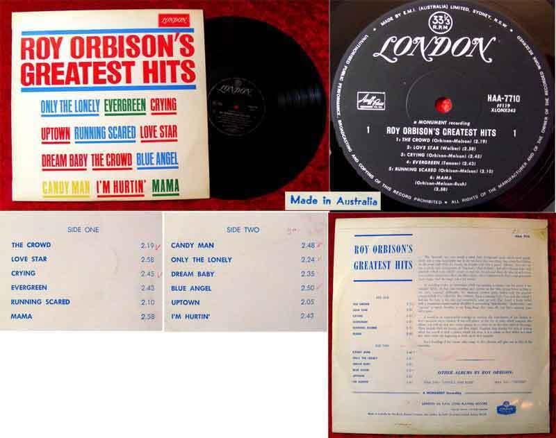 LP Roy Orbison´s Greatest Hits (Australien) (London HAA 7710)
