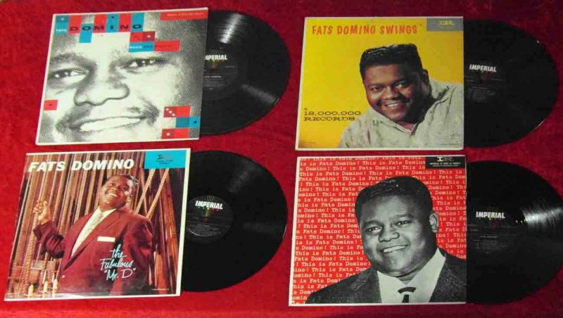 4 Langspielplatten von FATS DOMINO auf Imperial - Vinylsammlung - USA