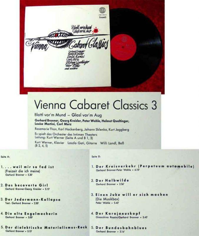 LP Vienna Cabaret Classics 3 Bronner Qualtinger Kreisler Martini