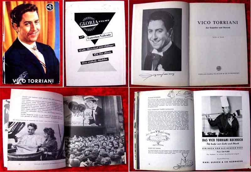 Vico Torriani - 48seitiges Souvenirheft - 1958 - Der Künstler & Mensch