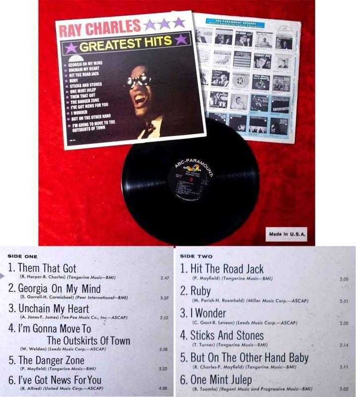 LP Ray Charles: Greatest Hits (ABC Paramount ABCS-415) US