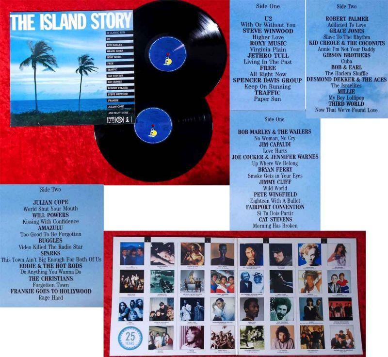 2LP Island Story (Island 303 115) D 1987 feat Bob Marley Roxy Music Free U2