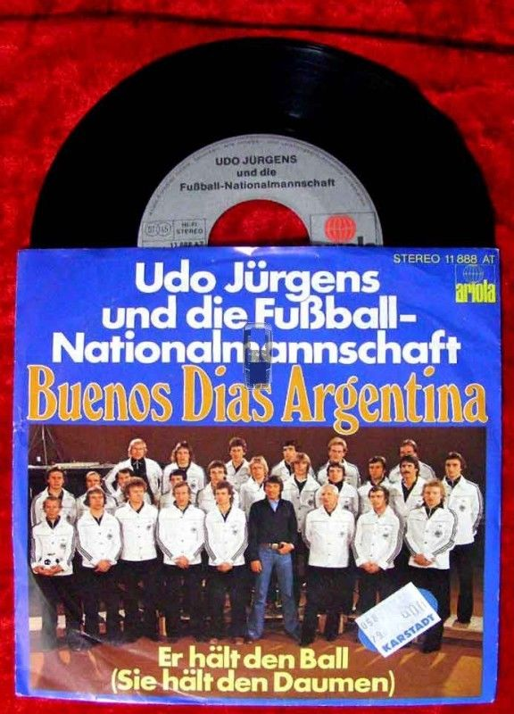 Single Udo Jürgens & Fußball Nationalelf 1978: Buenos