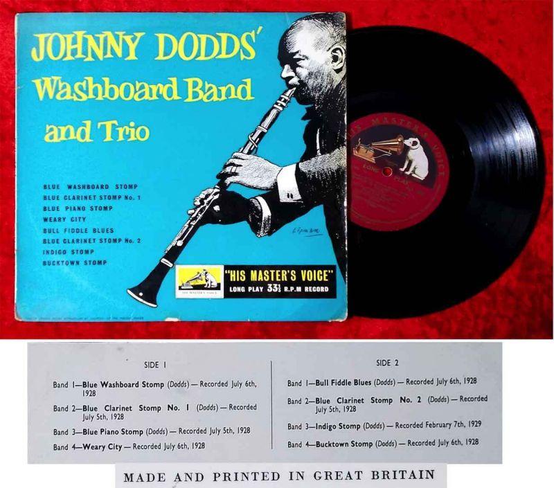 25cm LP Johnny Dodd´s Washboard Band & Trio (HMV DLP 1073) UK