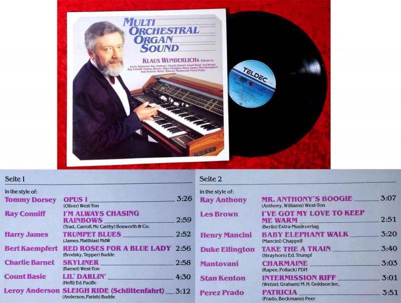 LP Klaus Wunderlich: Multi Orchestral Organ Sound (Teldec 626513 AS) D 1987