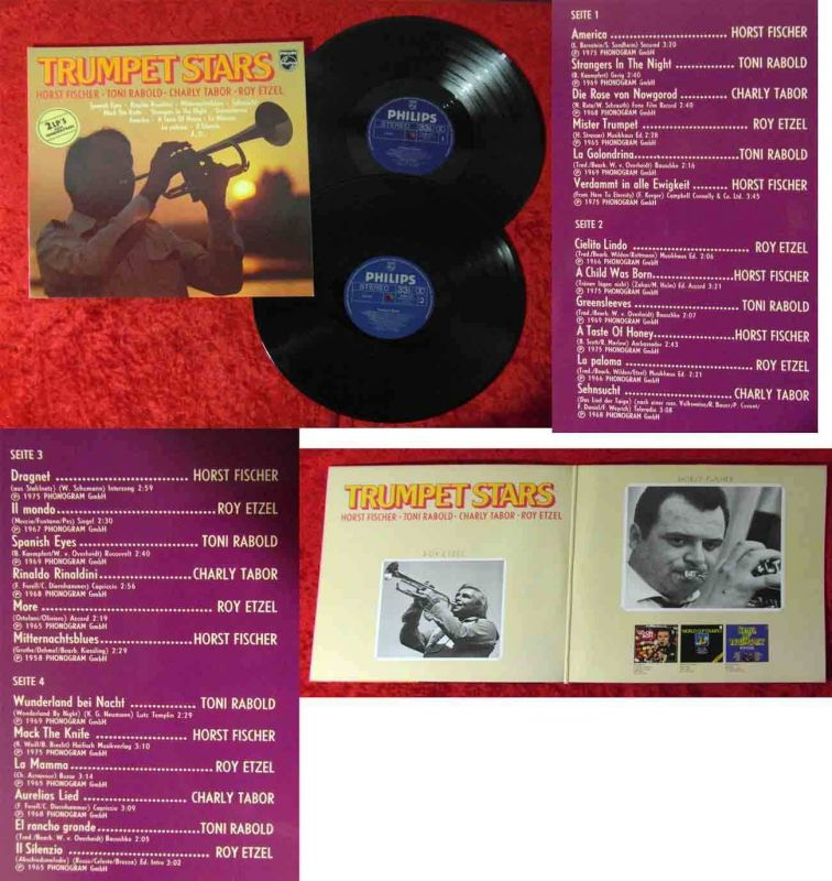 2LP Horst Fischer Toni Rabold Charly Tabor: Trumpet Stars (Philips 6623 071) D