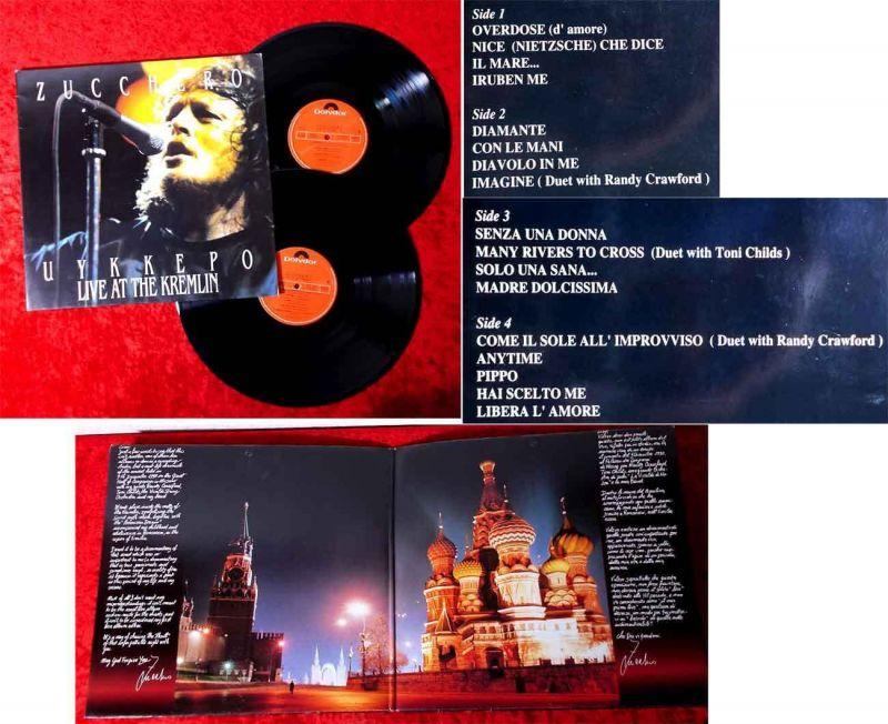 2LP Zucchero: Uykkepo - Live at the Kremlin (Polydor 511 519-1) Italien 1991