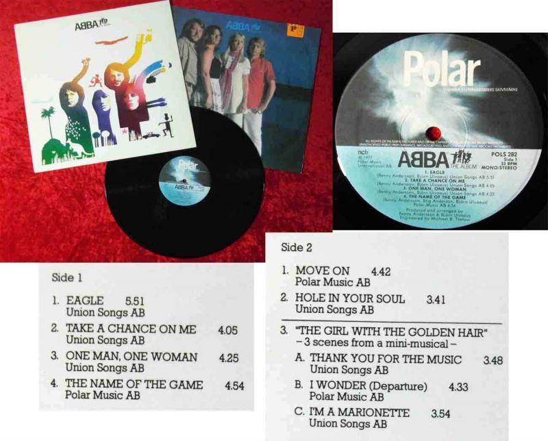 LP Abba: The Album (Polar POLS 282) Schweden 1977