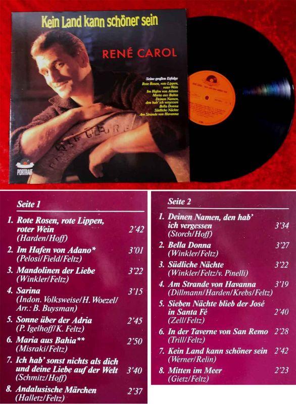 LP Rene Carol: Kein Land kann schöner sein (Polydor 841 323-1) D 1989