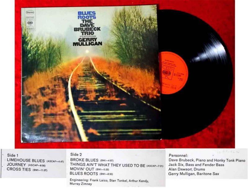 LP Dave Brubeck Trio: Blues Roots feat Gerry Mulligan (CBS S 63 517) NL 1969