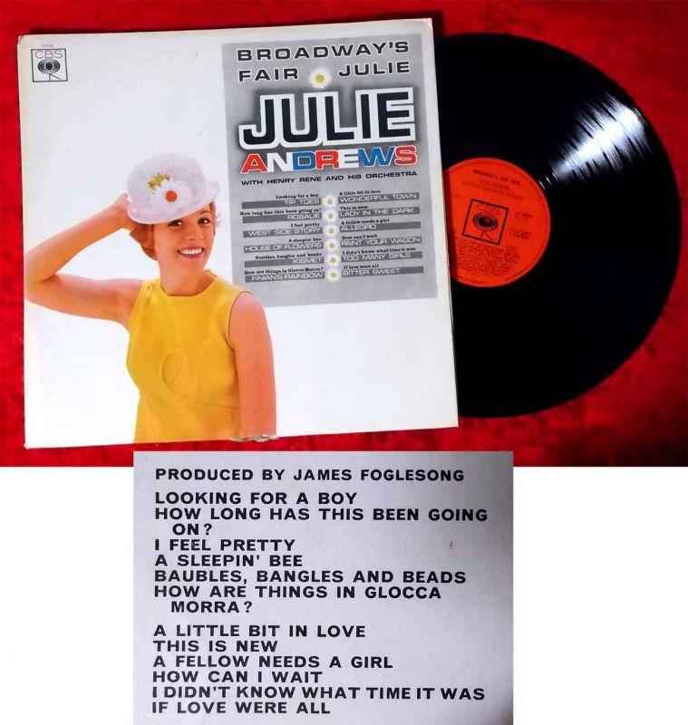LP Julie Andrews: Broadway´s Fair Julie (CBS Mono BPG 62018) UK 1966