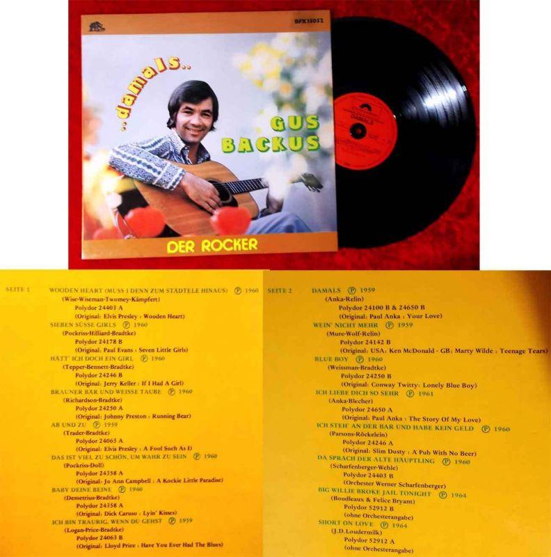 LP Gus Backus: Damals - Der Rocker (Bear Family BFX 15052) D 1980