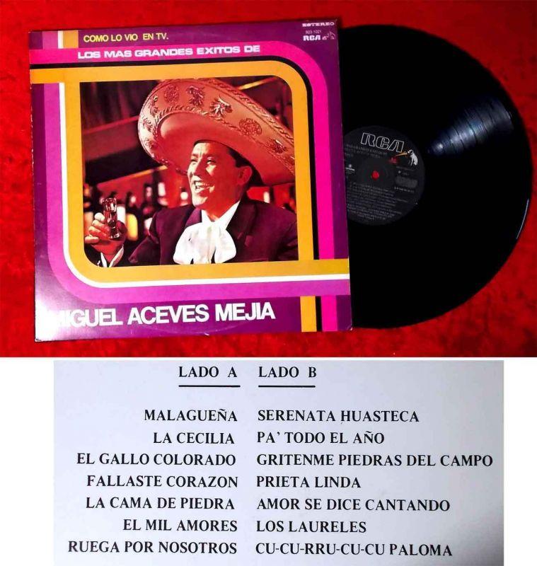 LP Miguel Aceves Mejia: Los Mas Grandes Exitos de... (RCA 923-1021) Ecuador