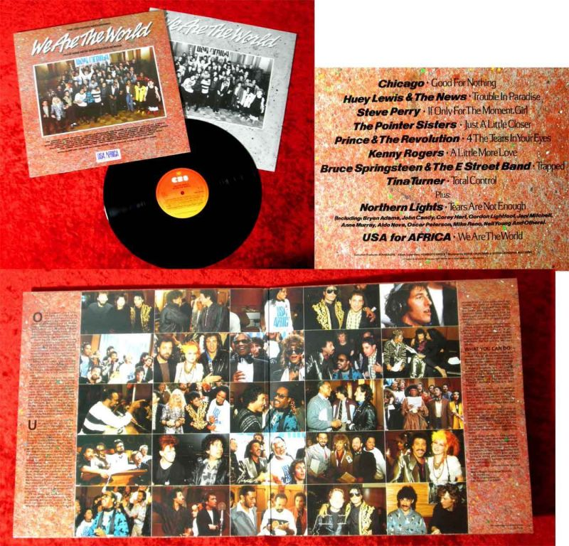 LP USA for Africa: We are the World (CBS 26454) NL 1985