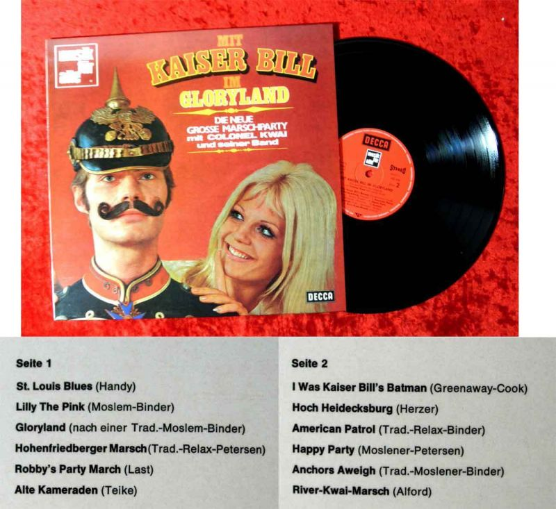 LP Colonel Kwai & seine Band: Mit Kaiser Bill im Gloryland (Decca ND 446) D