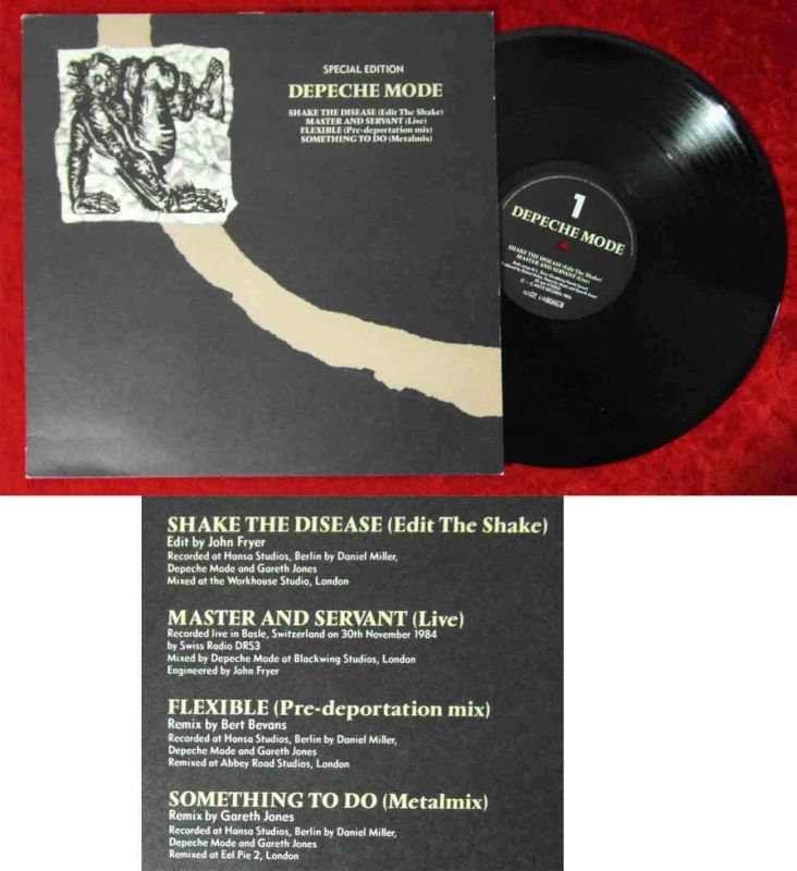 Maxi Depeche Mode: Shake The Disease - Special Edition (Mute L12 Bong8) 1985