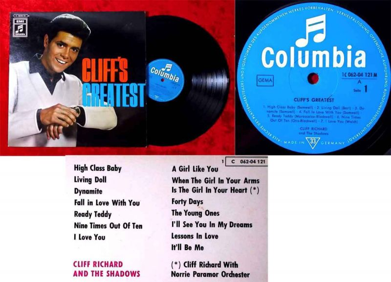 LP Cliff Richard: Cliff´s Greatest (Columbia 1 C 062-04 121 M) D