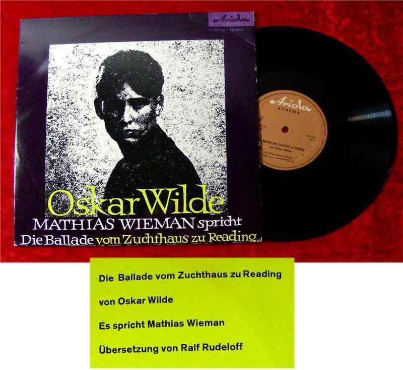 25cm LP Mathias Wieman spricht Oscar Wilde Ballade vom....