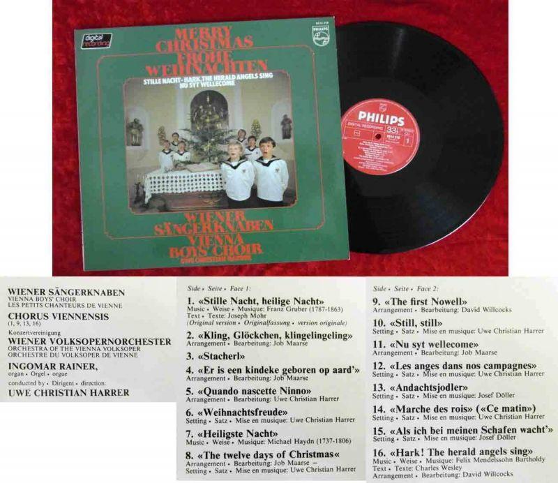 LP Wiener Sängerknaben: Merry Christmas - Frohe Weihnachten (Philips 6514 318)